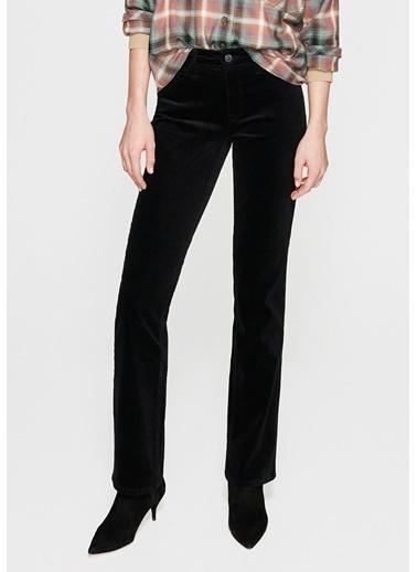Mavi Kadife Pantolon | Mona - Regular Renkli